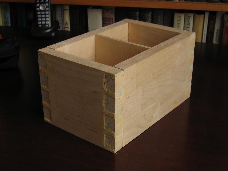 Как сделать ящик на шипах